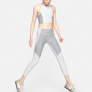 Outdoor Voices 3/4 Two-Tone Leggings Gray